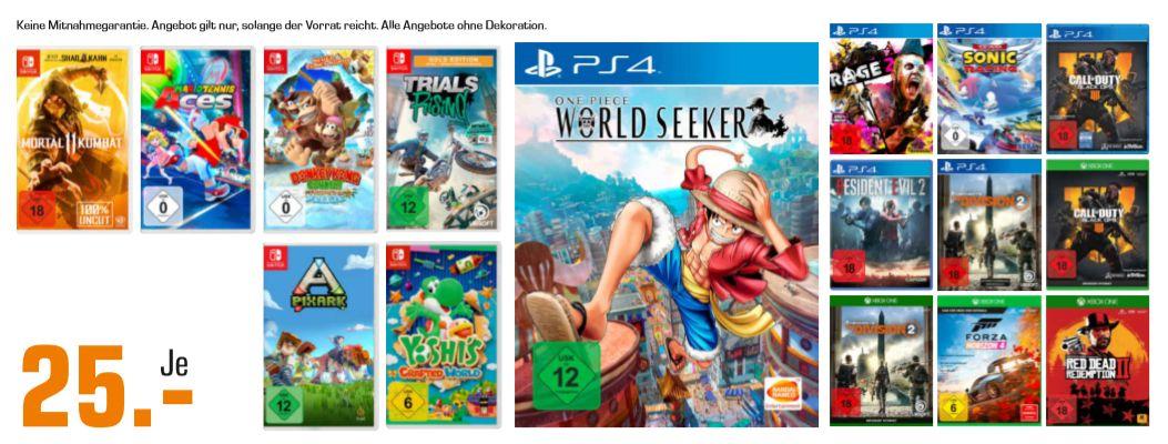Regional Saturn Hildesheim] Versch. Games wie zb...Donkey Kong Country: Tropical Freeze (Switch), Yoshi's Crafted World (Switch) für 25,-€