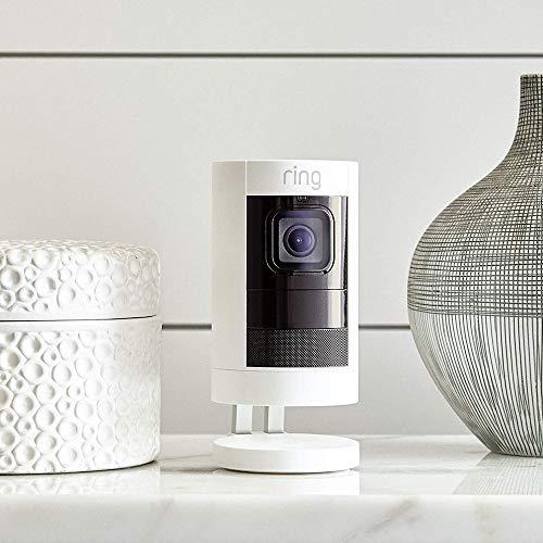 Ring Stick Up Cam Battery HD-Sicherheitskamera mit Gegensprechfunktion Weiß oder Schwarz