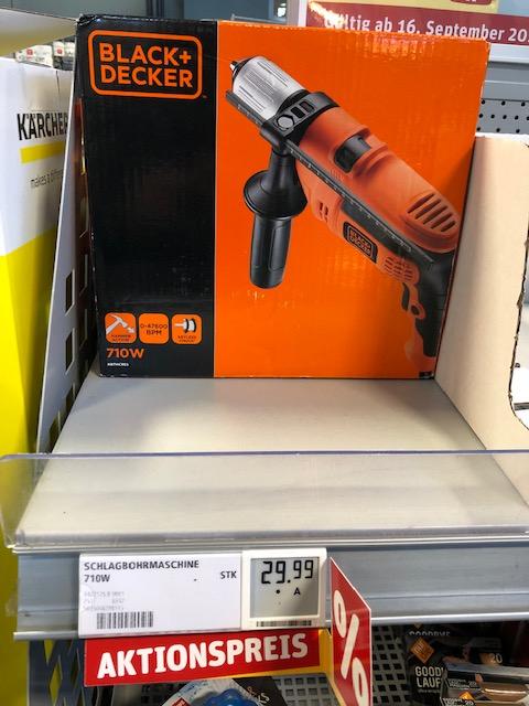 [Rewe Aktionsangebot] Black&Decker Schlagbohrmaschine 710W