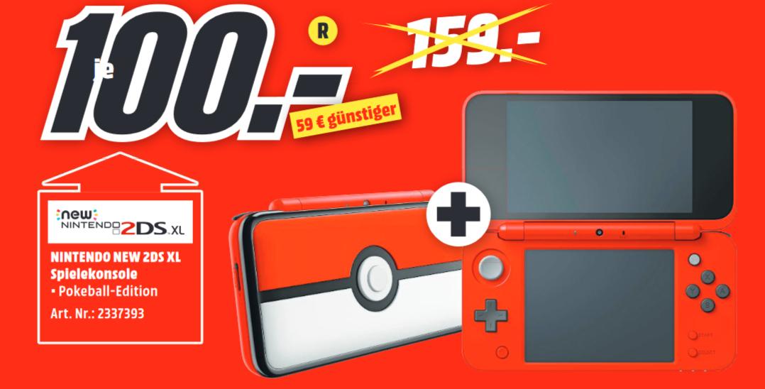 [Lokal: Media Markt Peine] Nintendo New 2DS XL Pokéball Edition