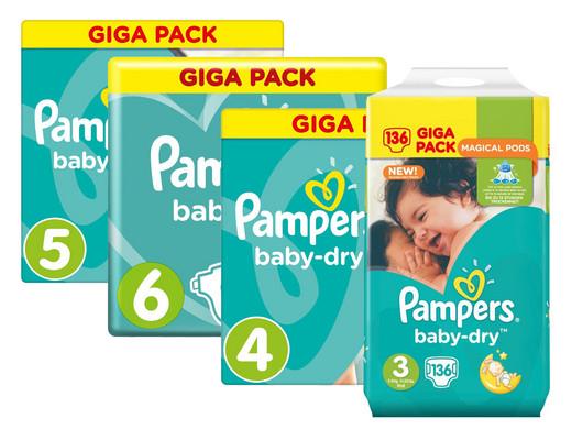 [IBOOD DEAL inkl. VSK] Pampers baby-dry GIGA PACK