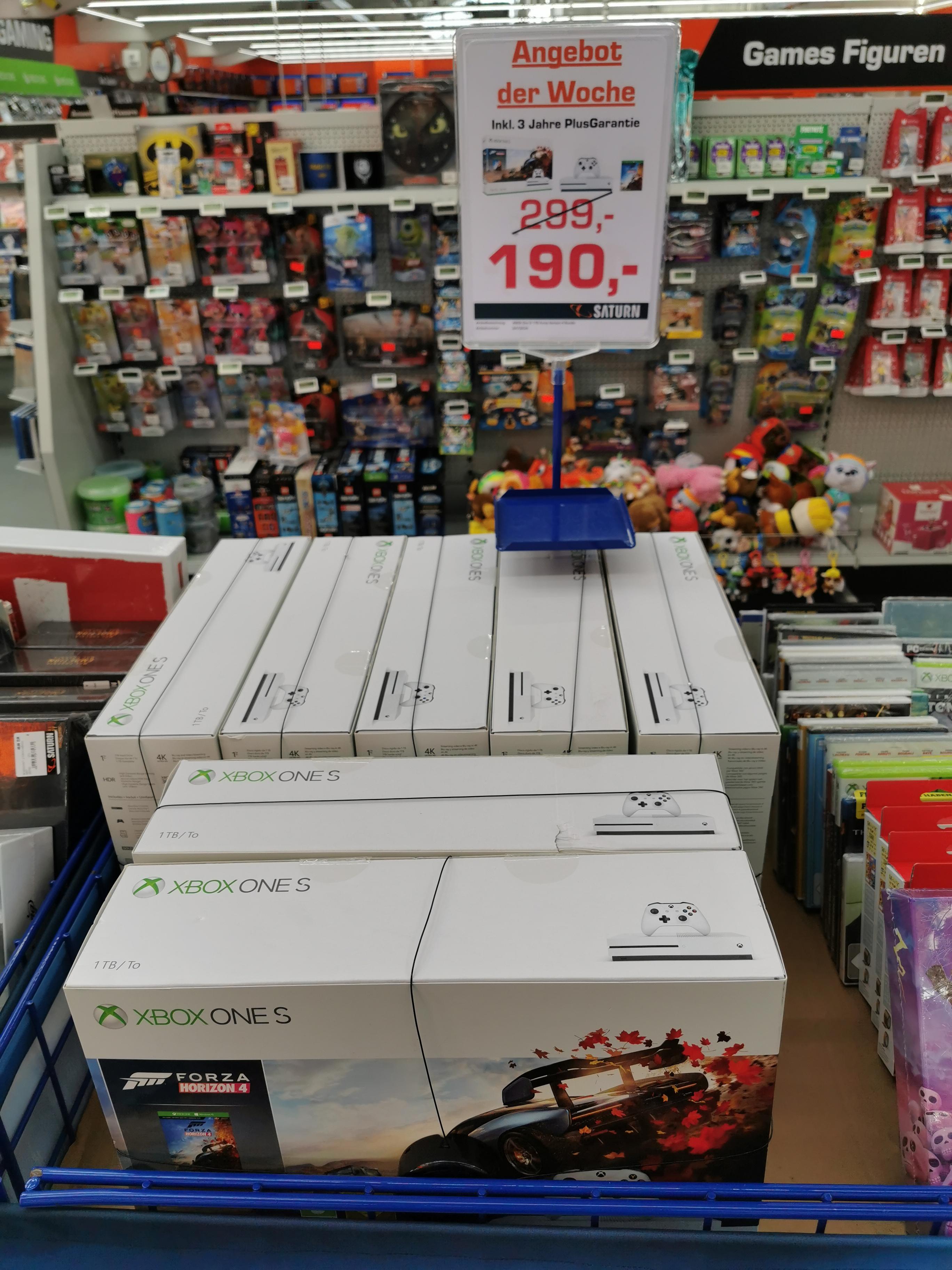 (Lokal Saturn Kempten Allgäu) XBOX ONE S 1 TB Forza Horizon 4 Bundle + 3 Jahre PlusGarantie