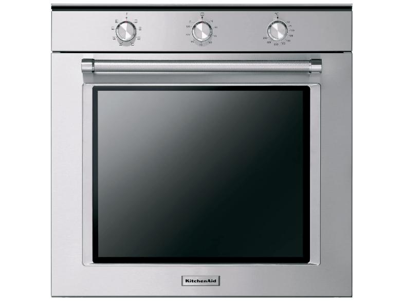 Backofen KitchenAid KOGSS 60600 (A+, 73l, Grill, Heißluft, Teigstufe, Teleskopauszug, dreifach verglast, emaillierter Innenraum, Edelstahl)