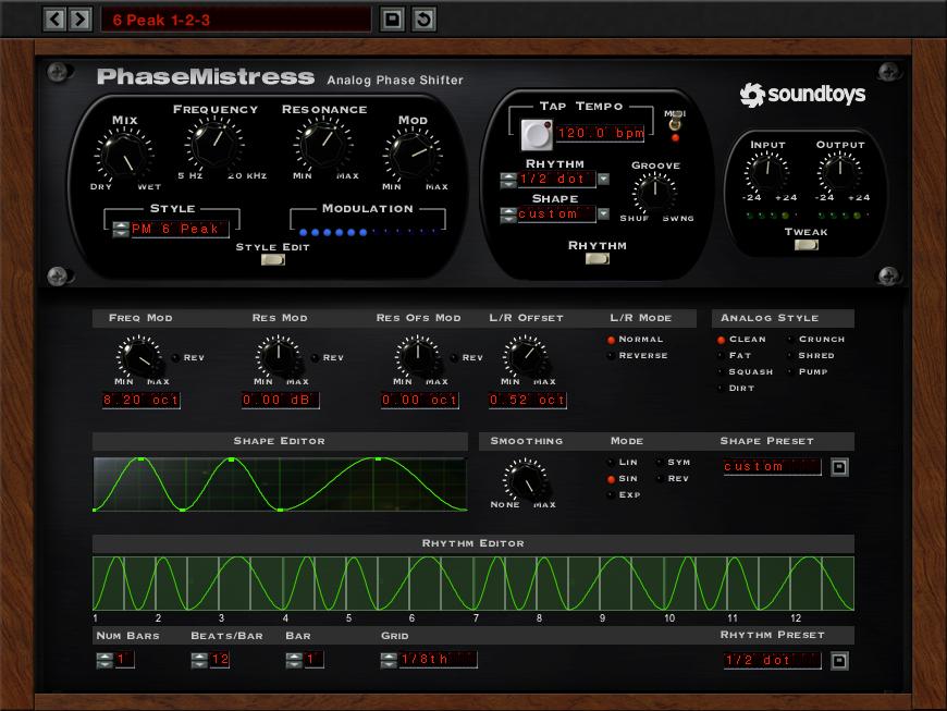 [VST / AU PlugIn DAW] Soundtoys PhaseMistress für 29$
