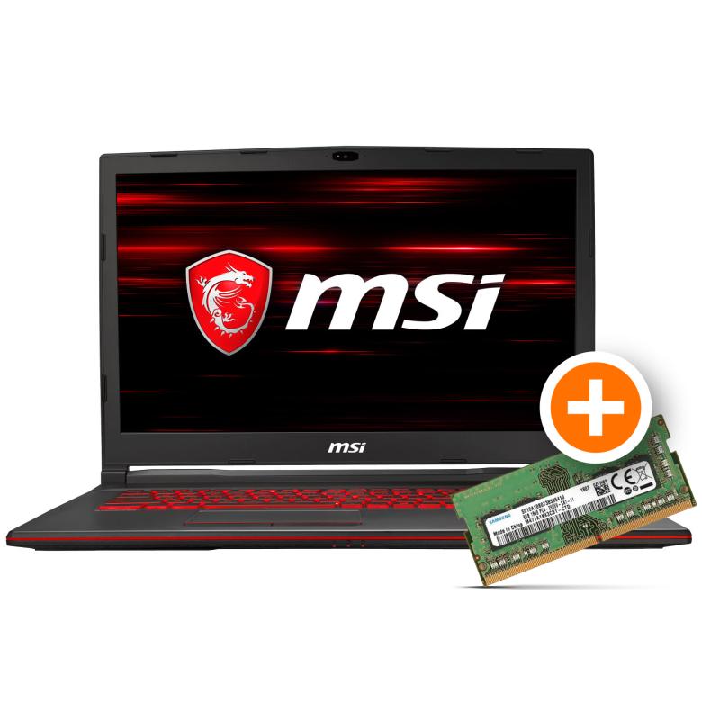 MSI GL73 17'' Gaming Laptop i7-8750H RTX 2060 Gratis RAM Erweiterung