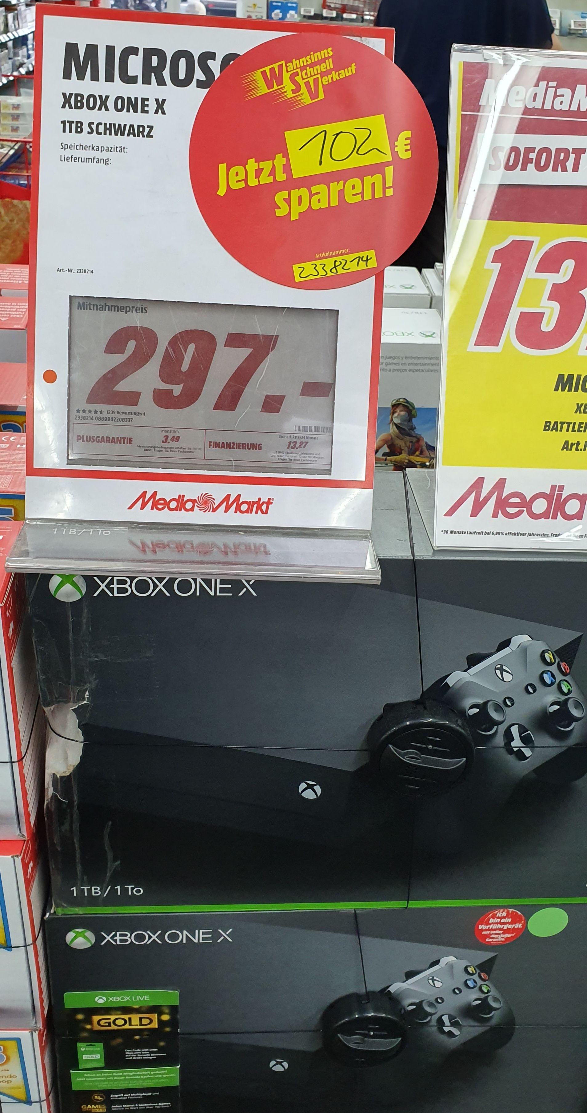 Xbox One X 1TB schwarz für 297€ [MediaMarkt Münster]