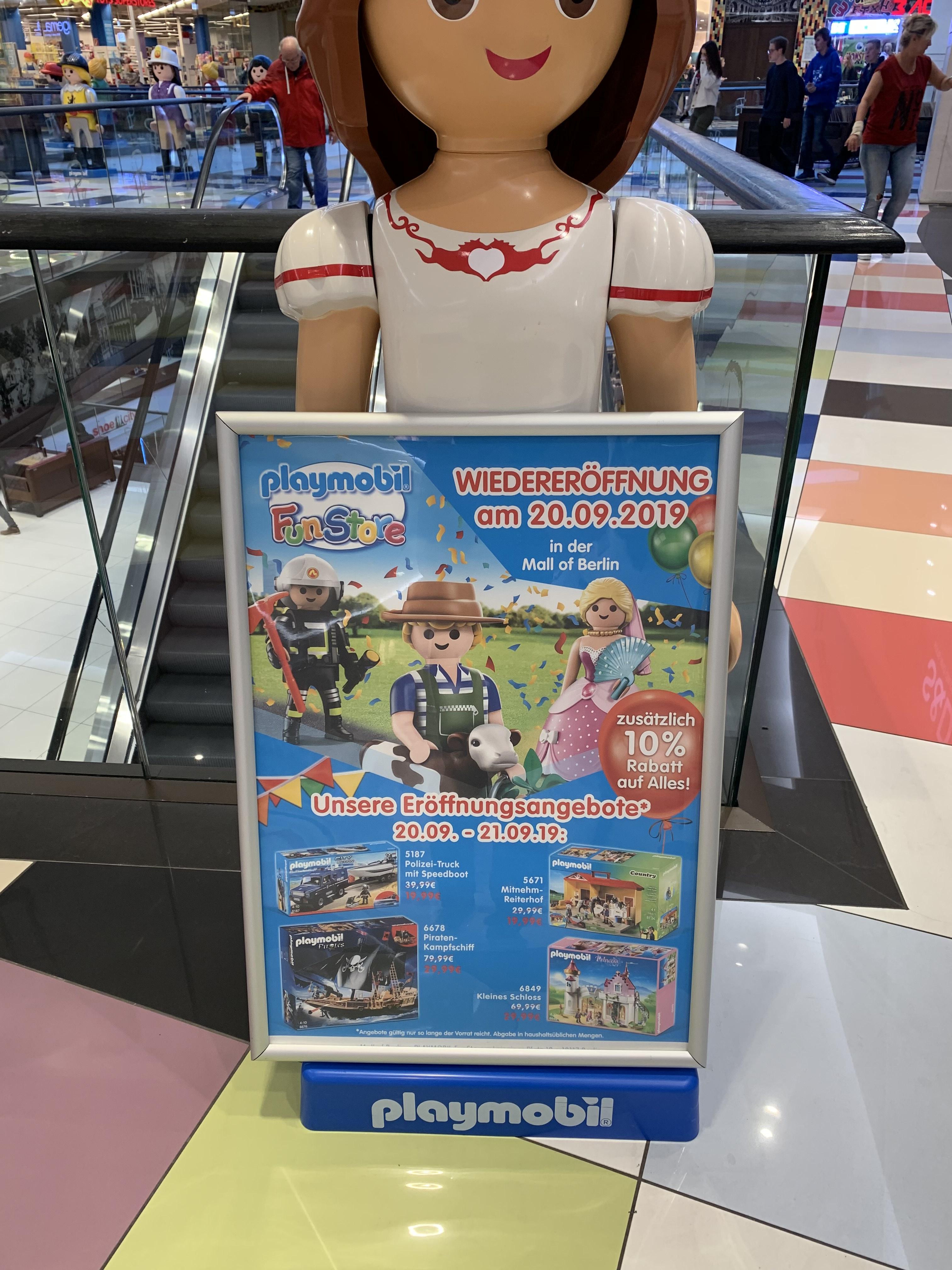 (Lokal Berlin) Neueröffnung Playmobilstore in der Mall of Berlin Playmobil 6678 & 6849 für jeweils 29,99€