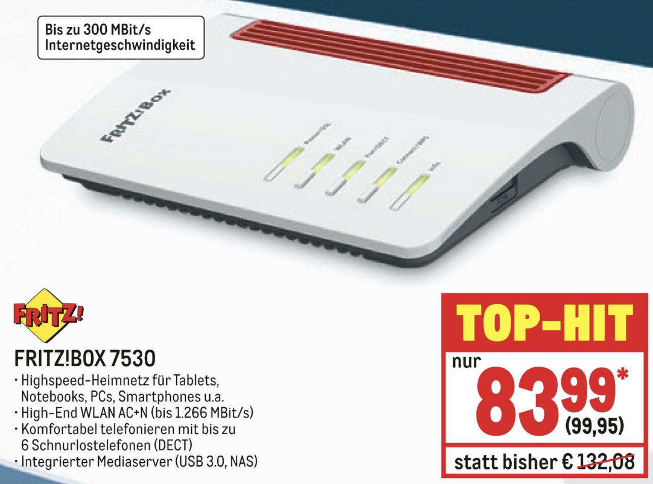 Metro ab 26.09.: AVM Fritz!Box 7530 WLAN-Router für 99,95€ - [Gewerbe o. Verein erforderlich]