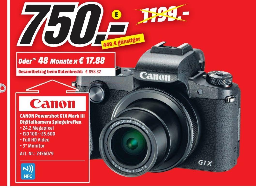 Lokal Mediamarkt Alzey Sammeldeal z.B. G1X iii, canon 70 200 f4, Samsung gq65q9 ...