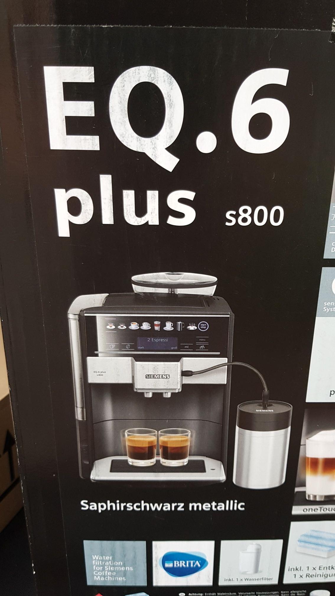 [lokal] Düsseldorf   Für Uns Shop  B-WARE -> Siemens EQ 6 plus s800 + 4 Pflegeset Kaffeevollautomaten