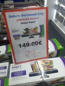 Xbox 360 Kinect Game Paket - 89 Euro @Saturn Dortmund City