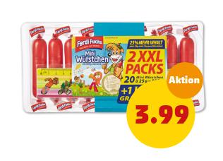 Ferdi Fuchs Mini Würstchen XXL 500g + Lineal Gratis