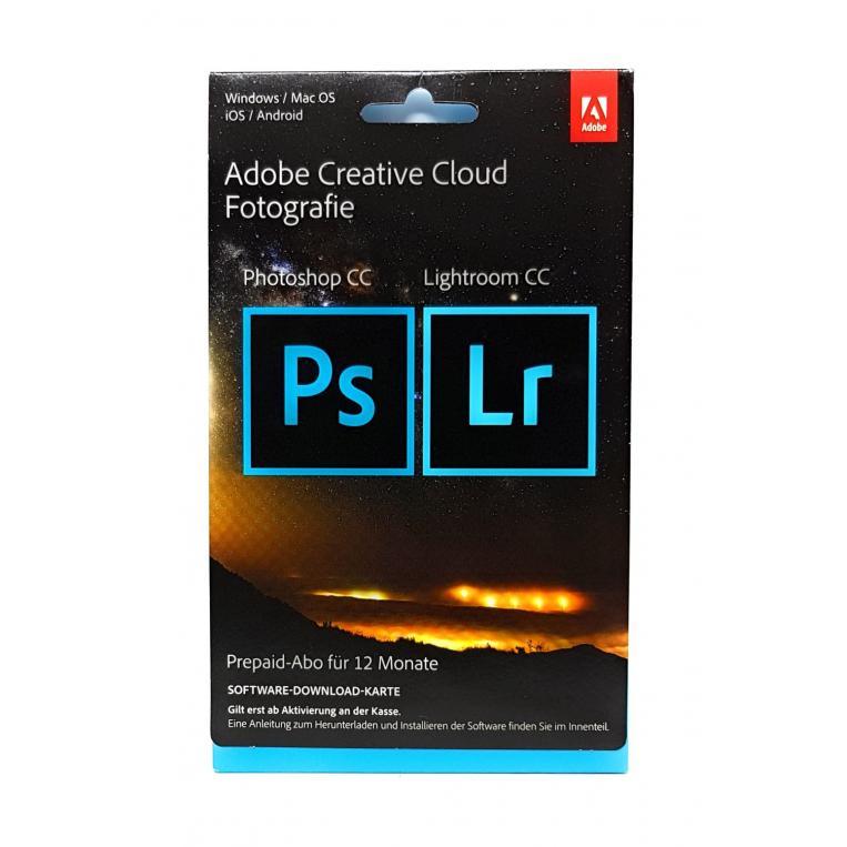 1 Jahr Adobe Creative Cloud Fotografie - Abo mit Photoshop, Lightroom und 20GB Cloudspeicher