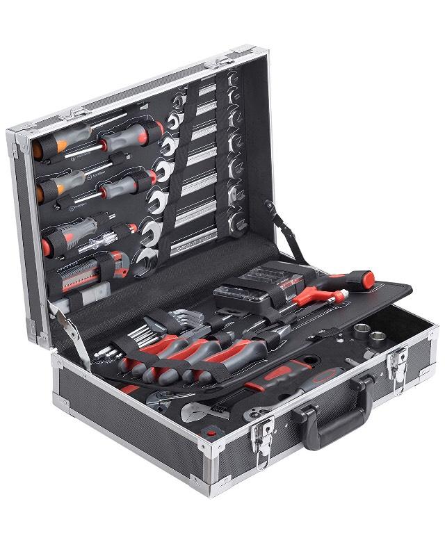 Conex Werkzeugkoffer mit Werkzeug, 116 tlg., Werkzeugkoffer COX566116