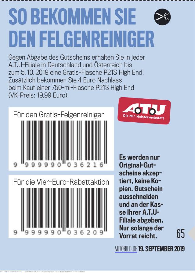 AutoBild kaufen, Dr. Wack P21S High End Felgenreiniger gratis bei ATU abholen