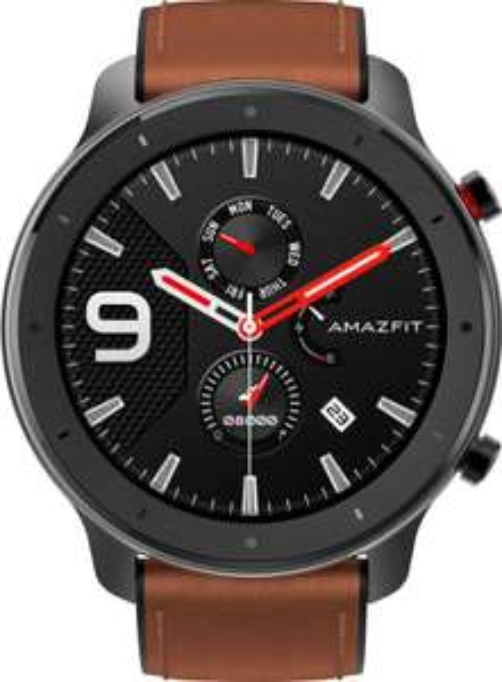 [OTTO] Amazfit GTR Aluminium Alloy 47MM Titanium Sport Smartwatch Leder Armband