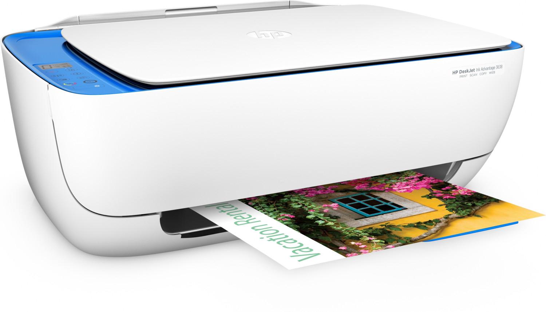 Multifunktionsdrucker HP Deskjet 3638 (Drucker/Scanner/Kopierer, A4, 8.5/6 S/min, 60 Blatt, WLAN, USB, teure Originalpatronen)