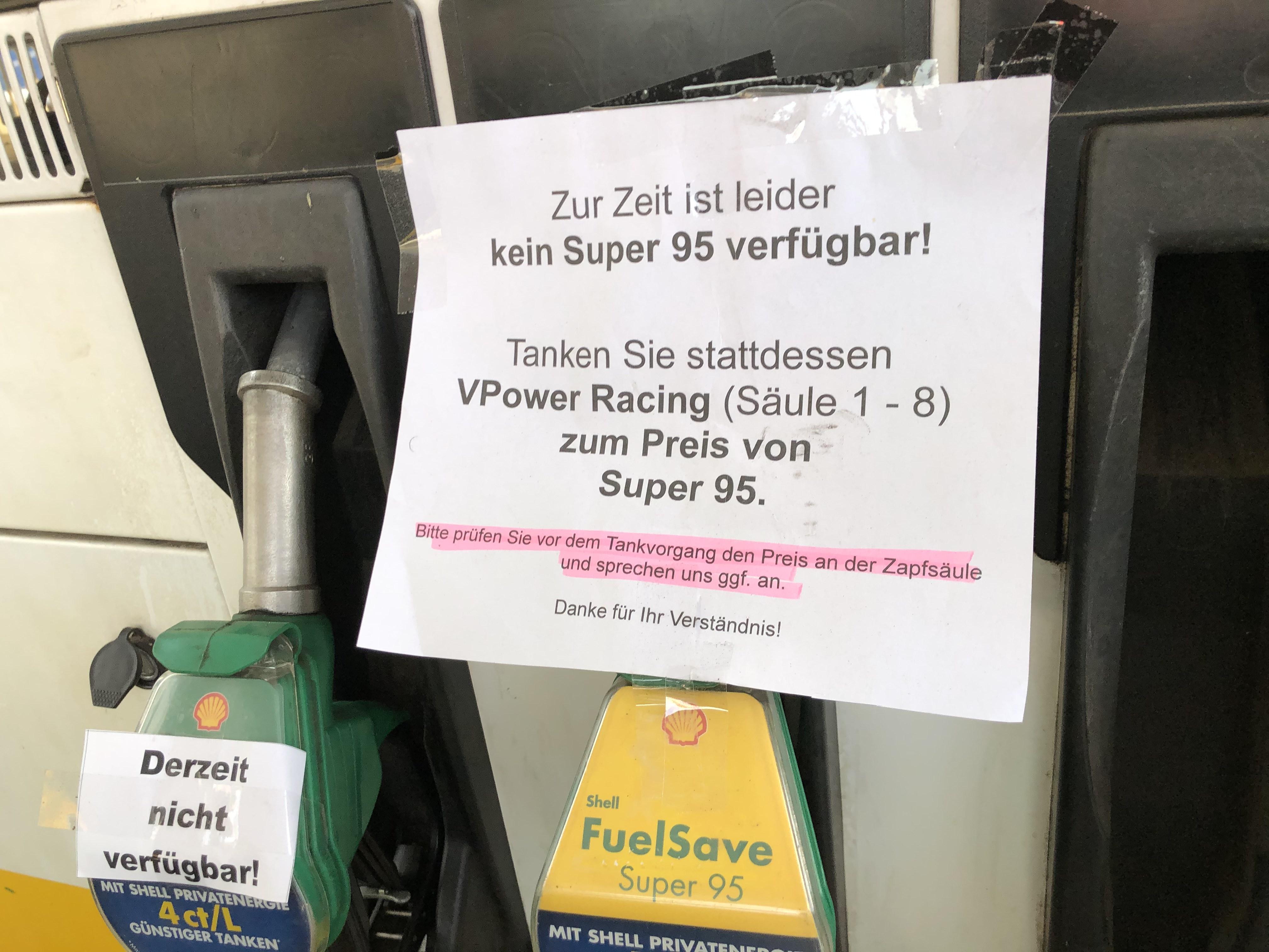 Lokal Hannover / Langenhagen. Shell Reuterdamm Vpower zum Preis von Super95