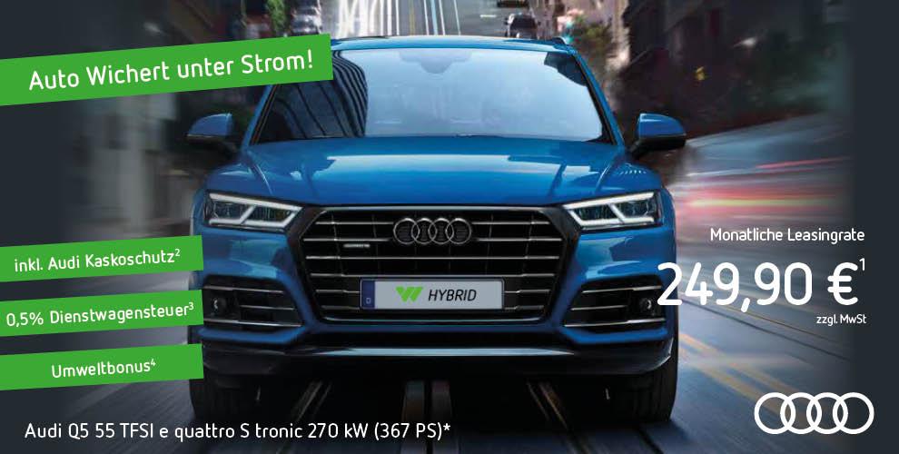 [Gewerbeleasing] Audi Q5 55 TFSI E Quattro Plugin-Hybrid (367 PS) mtl. 210€ netto / 249,90€ brutto, 12 Monate (!), ab 10.000 km p.a.