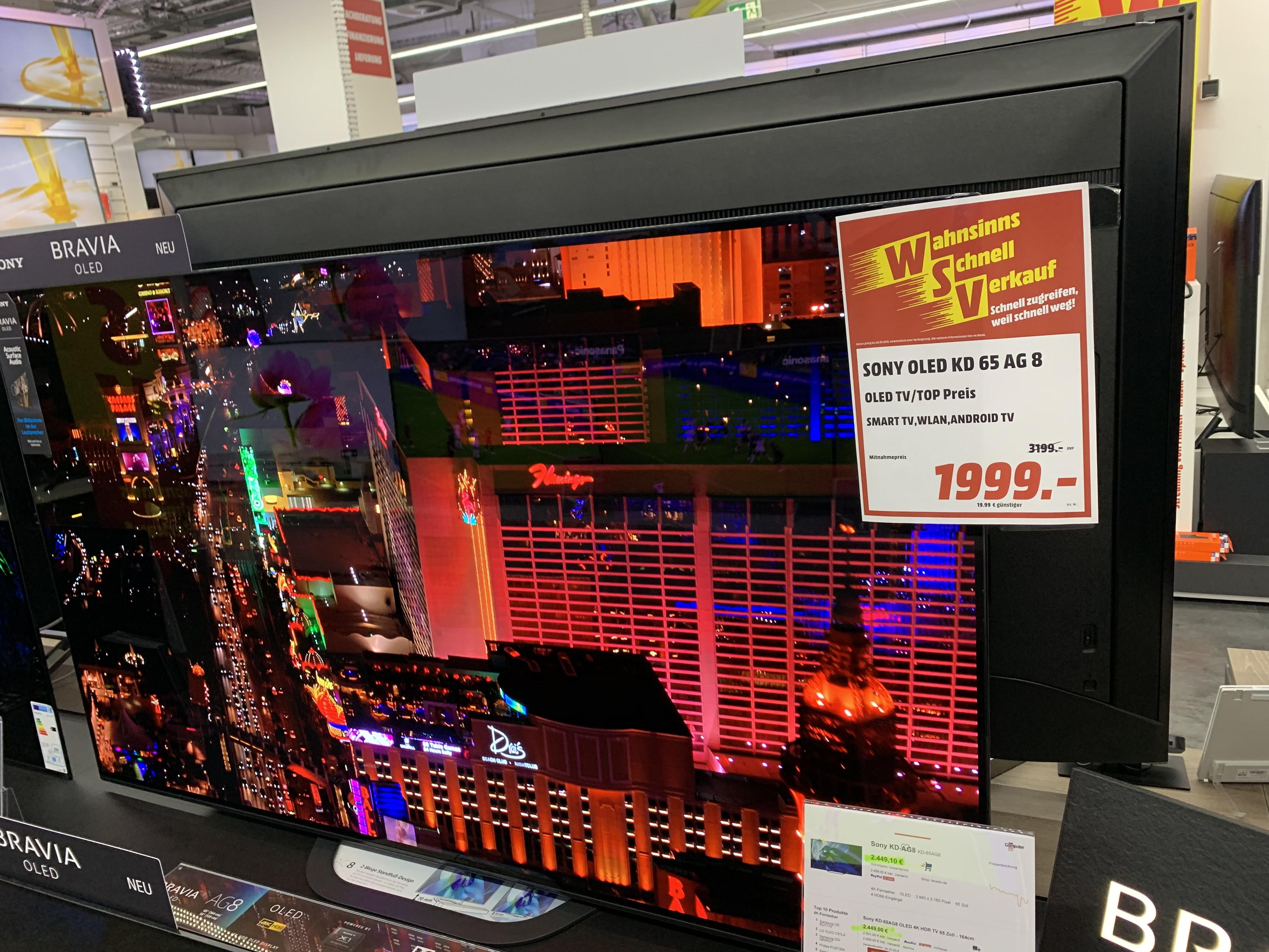 Sony OLED TV 4K 65 Zoll KD65AG8 MM Köln Hohe Str.121