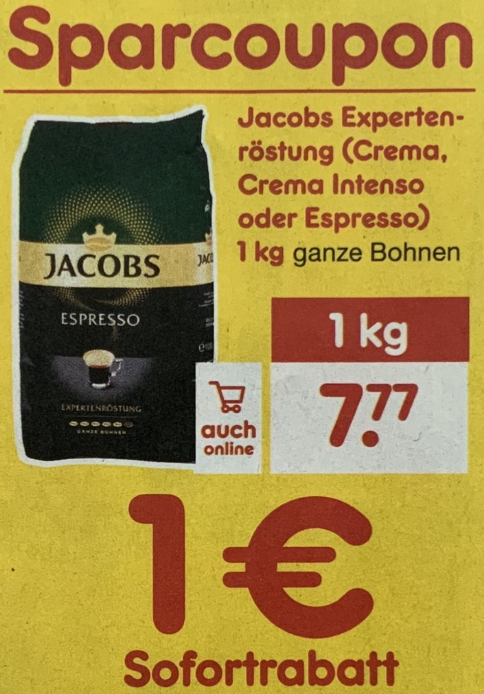 Netto MD: Jacobs Experten-Röstung versch. Sorten 1kg ganze Bohnen für 6,77€ mit Coupon - ab 26.09.