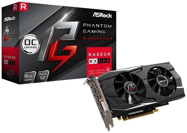 ASRock Radeon RX 580 Phantom Gaming D OC 8 GB OC Grafikkarte