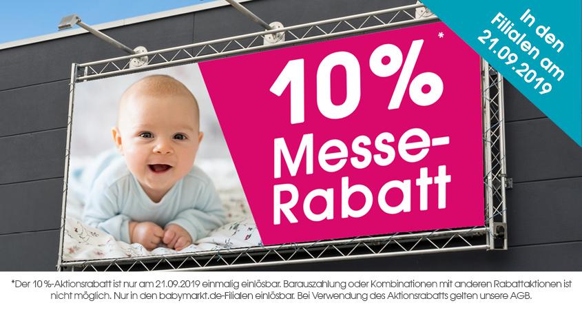 Babymarkt.de 10% Rabatt am 21.09. (lokal in den Filialen)