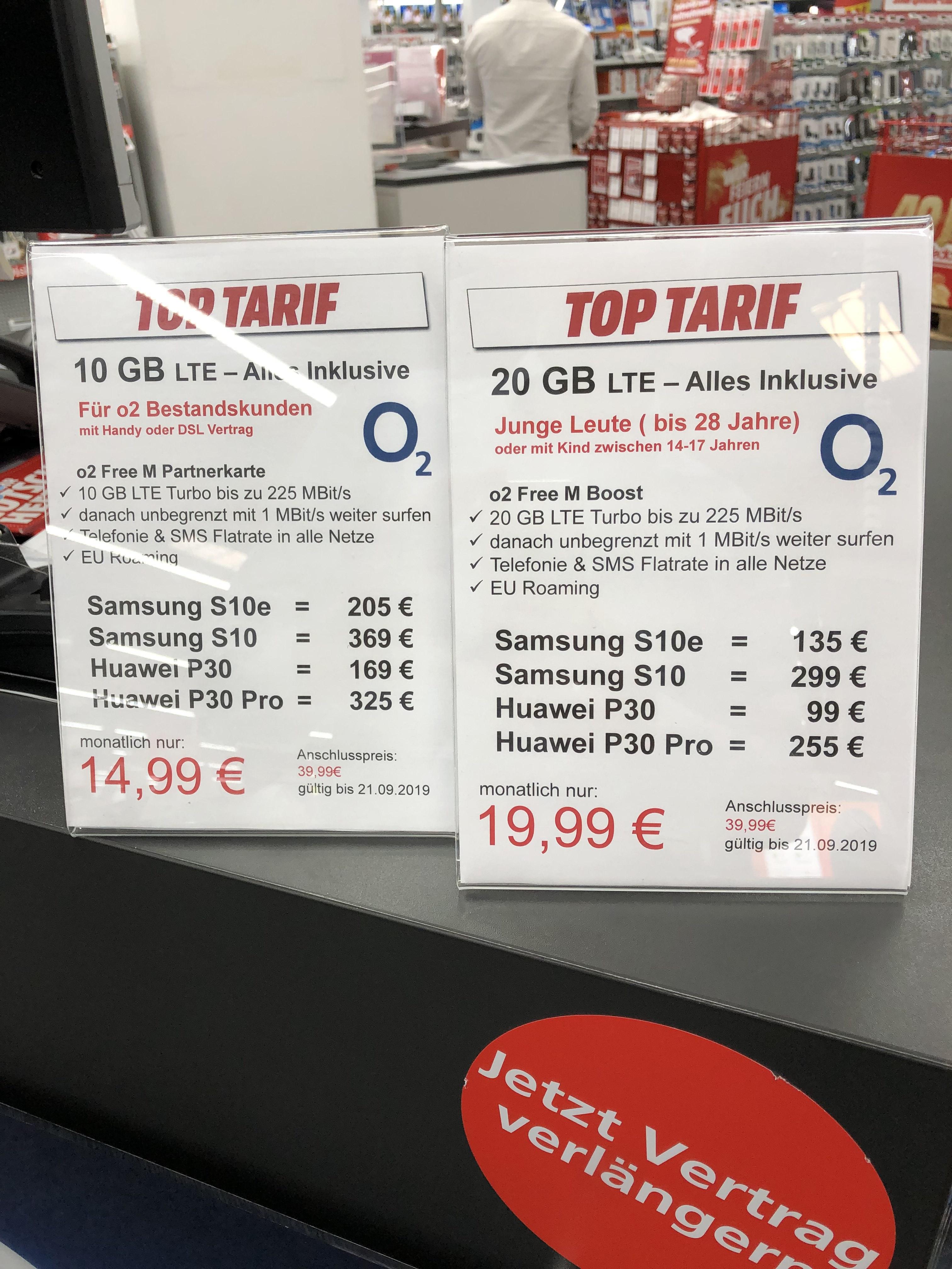 (LOKAL KÖLN) o2 Free M Boost 20 GB Junge Leute für effektiv 9,24 € / Free M Partnerkarte 10 GB für effektiv 7,16 € bei Verkauf der Hardware