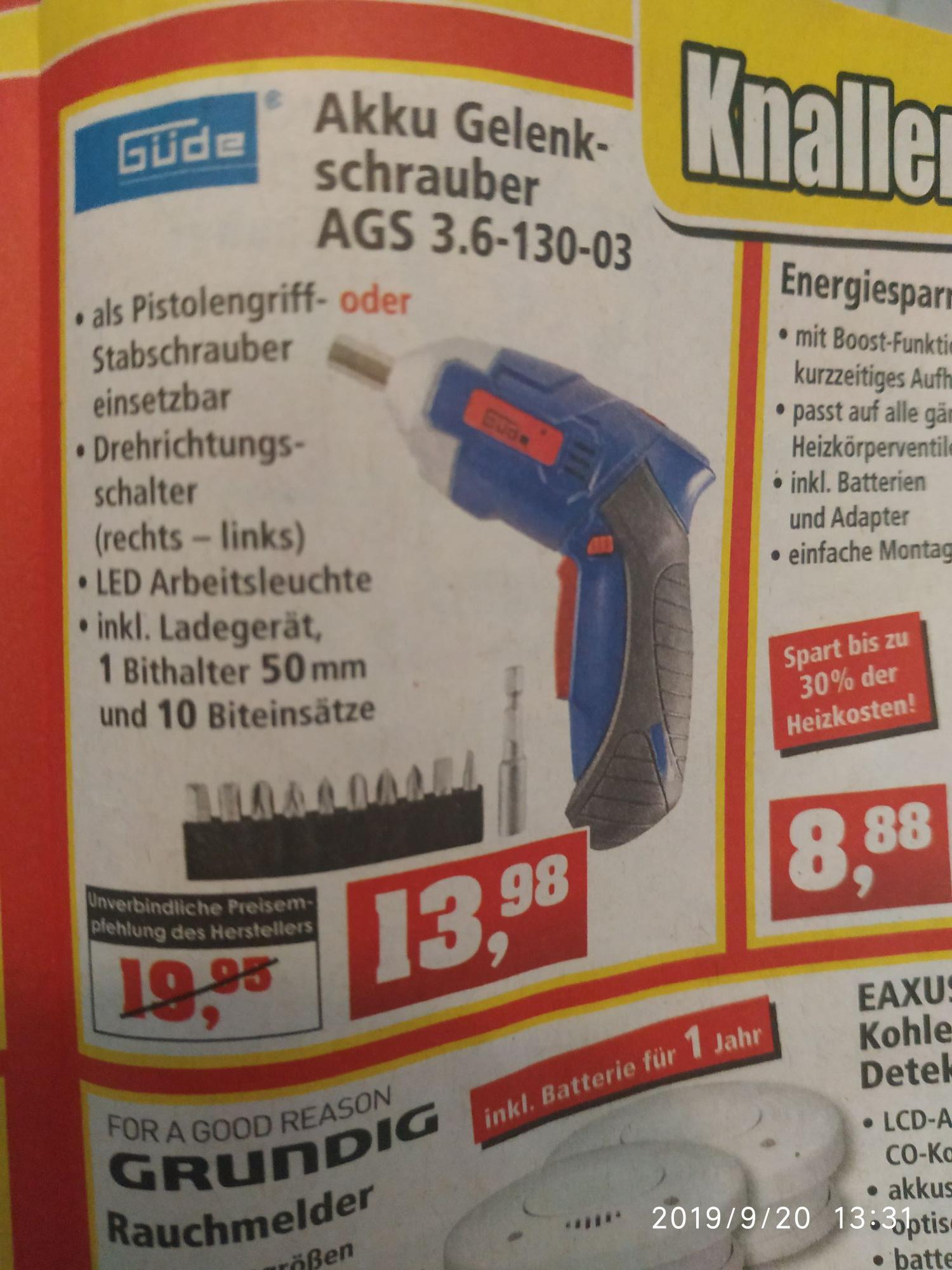 Güde Akku Gelenkschrauber AGS 3.6-140-03