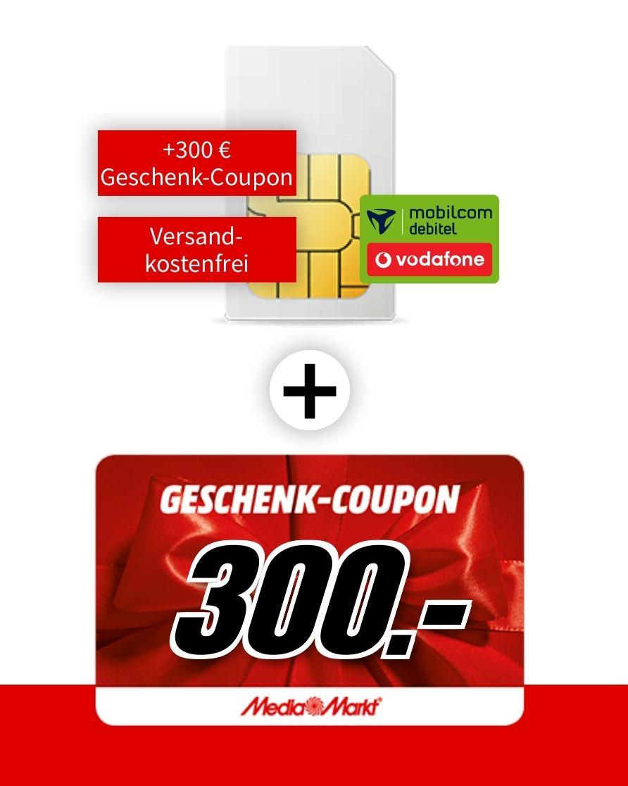 [SIM only] Mobilcom Debitel Telekom oder Vodafone green LTE (6GB LTE, Allnet) für mtl. 16,99€ ohne AG und 300€ Coupon (=4,49€ mtl.)