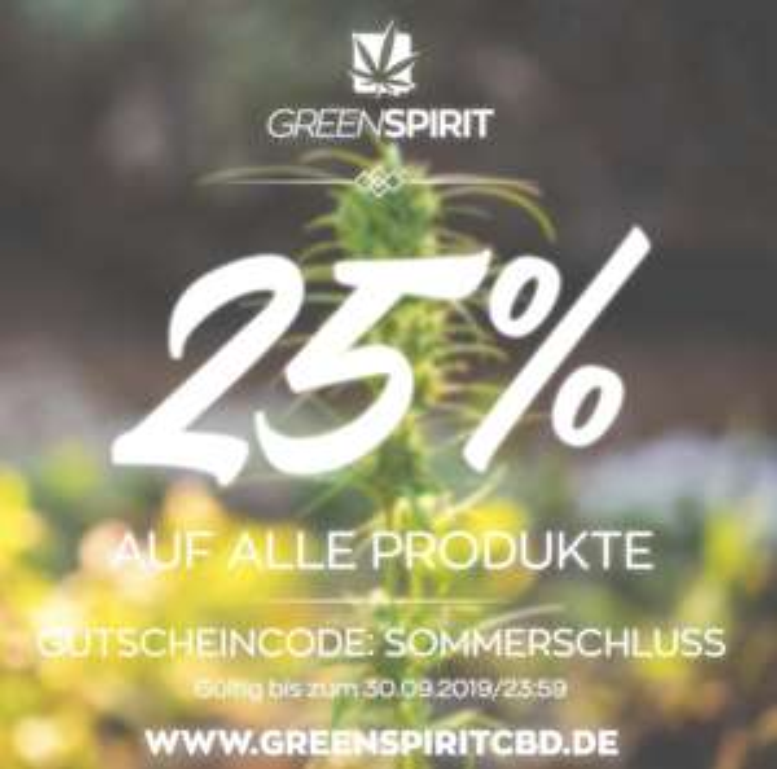 25% auf CBD Produkte