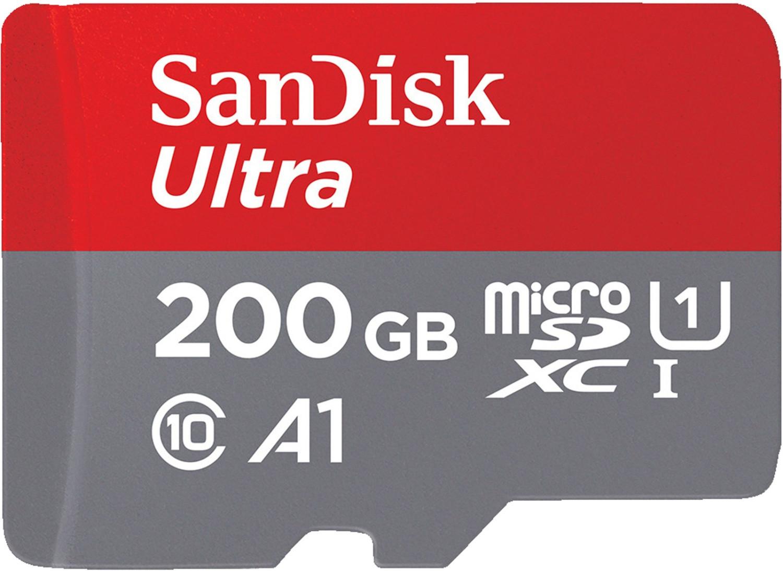 SanDisk Ultra 200GB microSDXC Speicherkarte (bis zu 100 MB/Sek. Lesen, Class 10, U1, A1) für 25€ [MediaMarkt / Amazon]