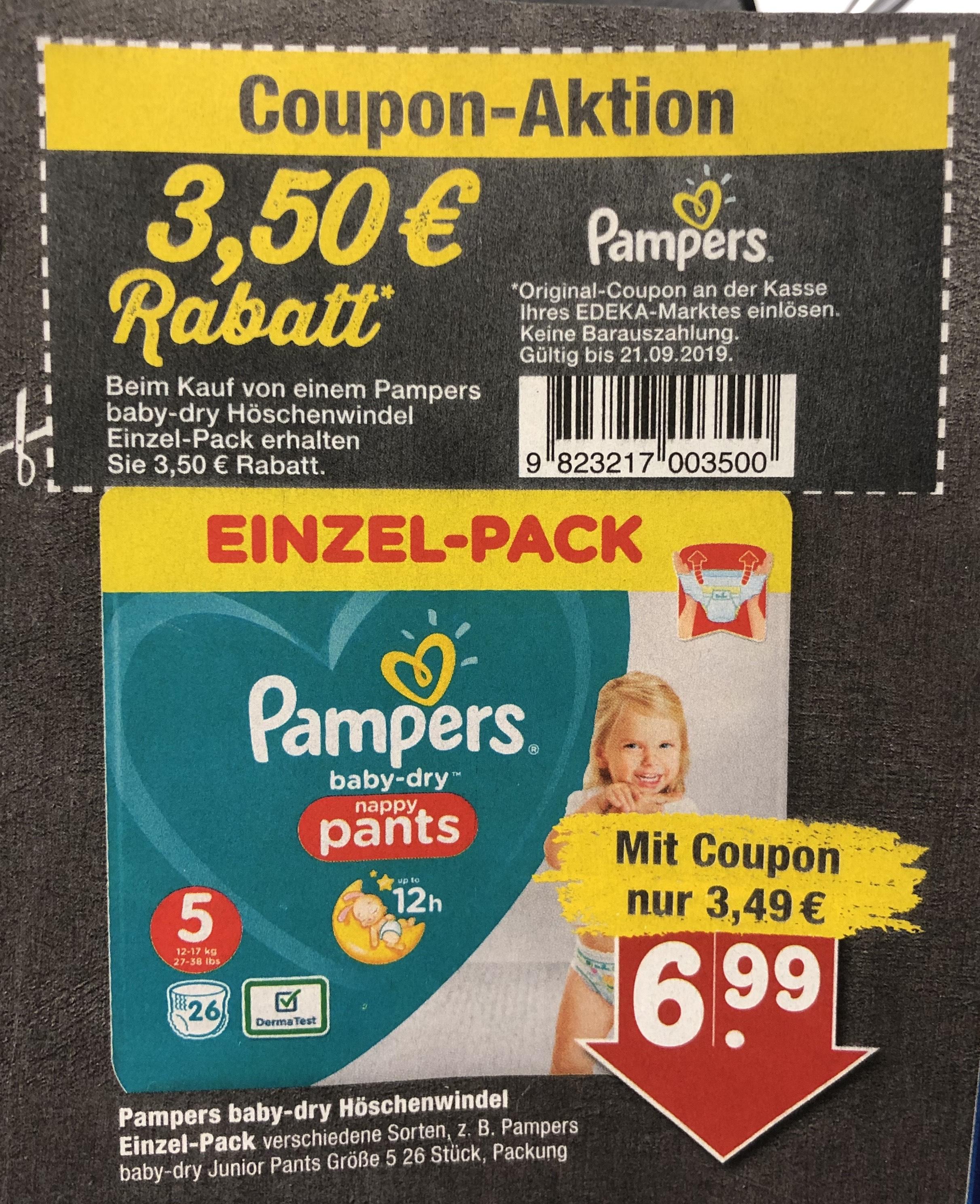 LOKAL - Pampers baby-dry beim Edeka Scheck-in Weinheim