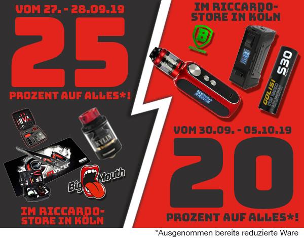 [Lokal & Neu: 15% Online-Rabatt] Riccardo Store Köln Eröffung [Dampfen]