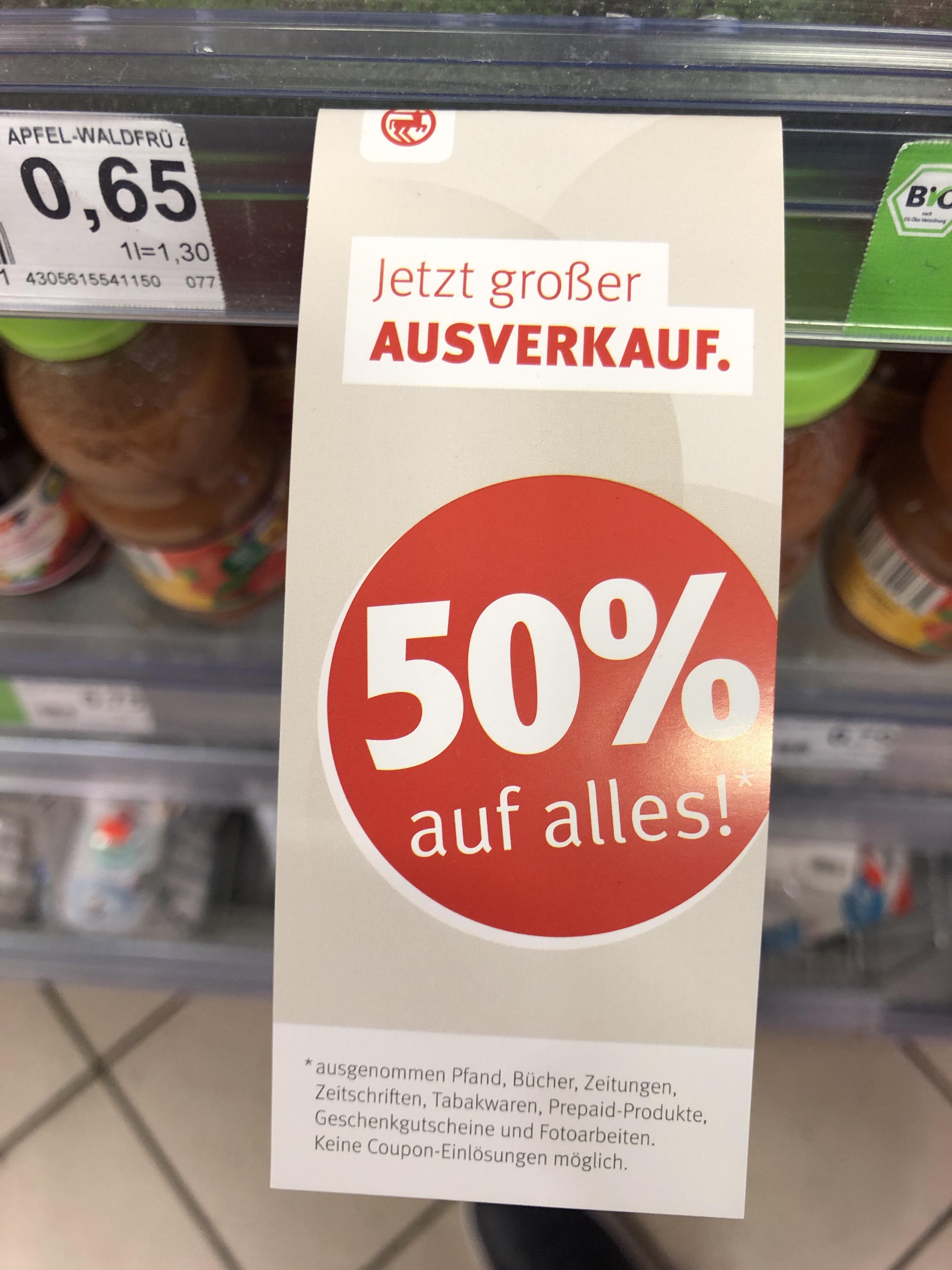 [Lokal Berlin Kreuzberg] Rossmann 50% auf alles
