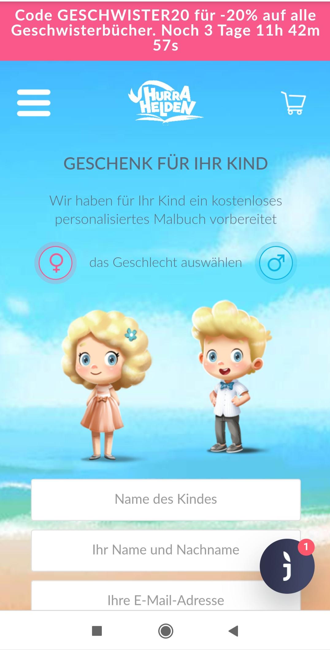 Hurra Helden: personalisiertes Malbuch als PDF kostenlos anfordern