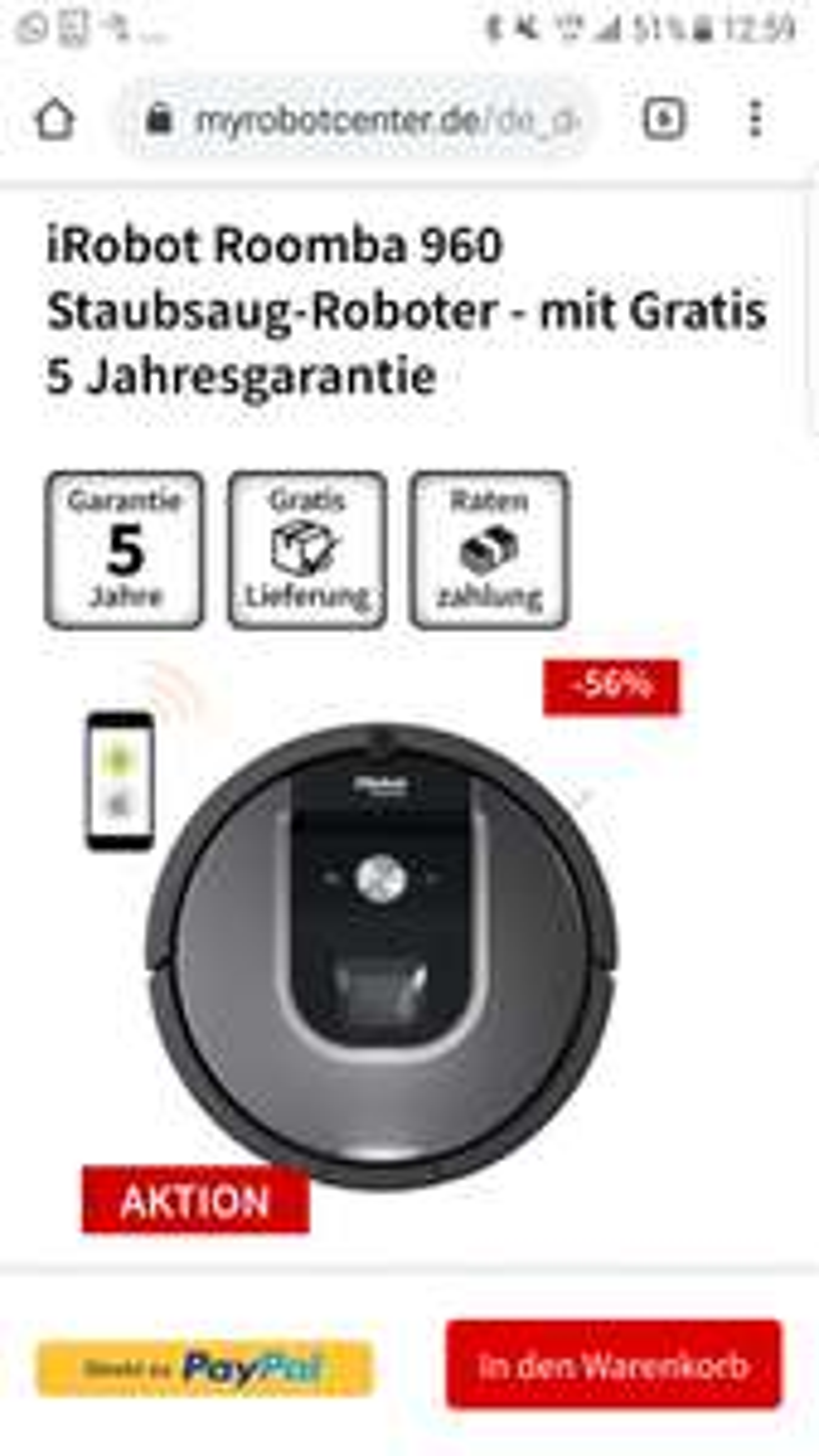 iRobot Roomba 960, inkl. 5 Jahres Garantie, [myRobotcenter]