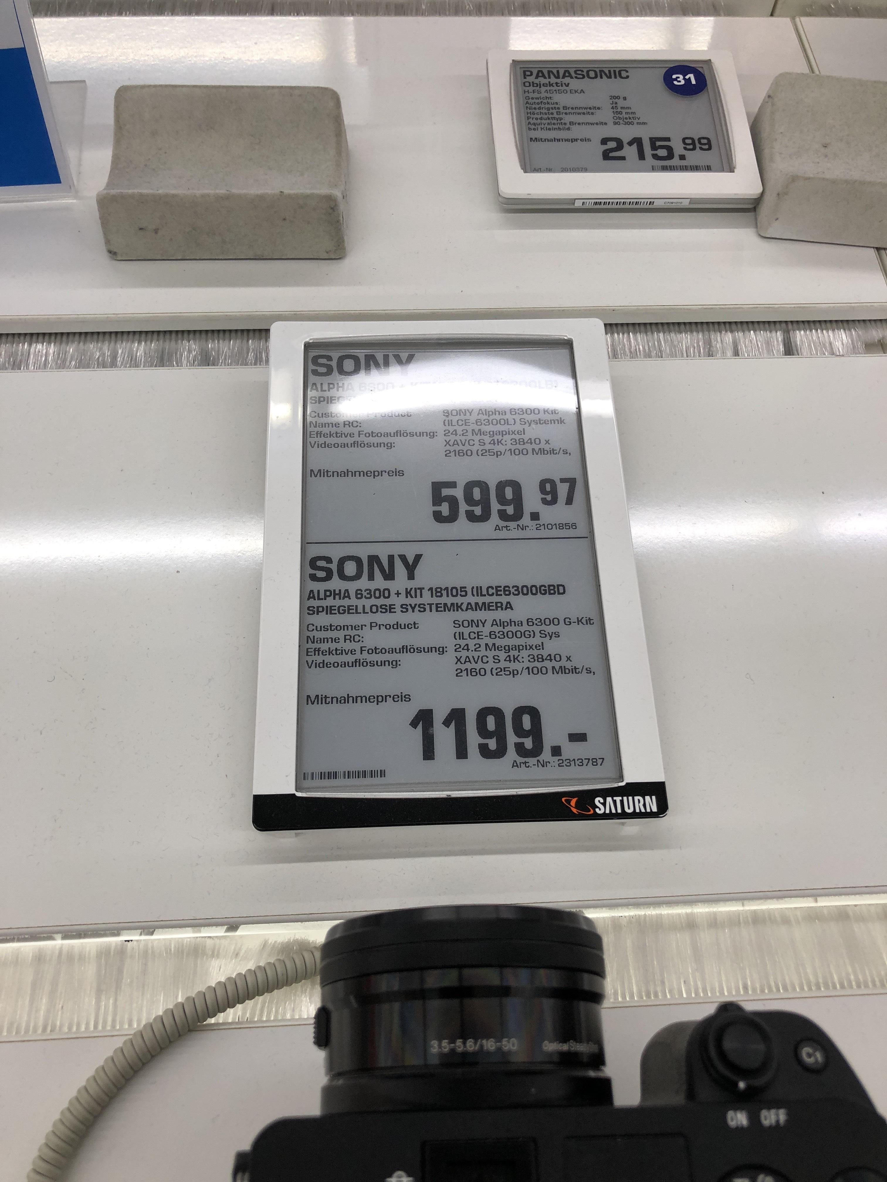 [Lokal Saturn Koblenz] Sony Alpha 6300 Kit 16-50mm