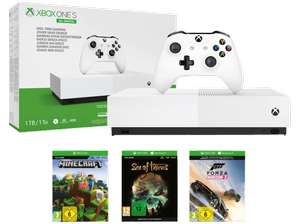 Xbox One S 1TB All Digital Edition + Forza Horizon 3, Minecraft, Sea of Thieves + Borderlands 3 oder Spyro Reignited Trilogy für je 179,99€