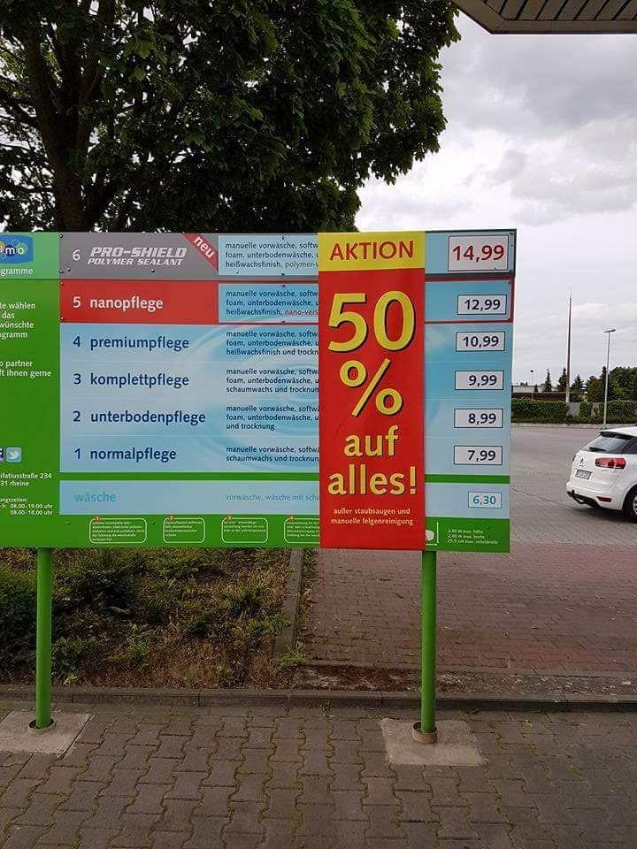 [Lokal IMO Bielefeld-Oldentrup] 50% auf Autowäsche