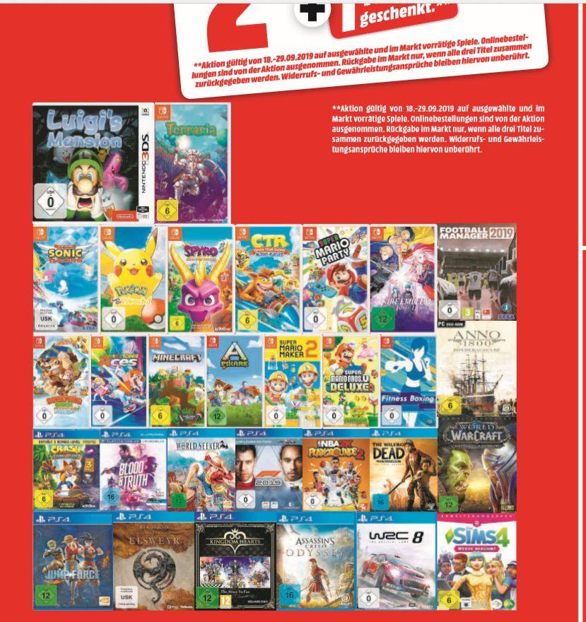 [Regional Mediamarkt Stralsund] 3 für 2 auf ausgewählte Spiele wie zb...Donkey Kong Tropical Freeze,Spyro,Mario Deluxe (SWITCH)