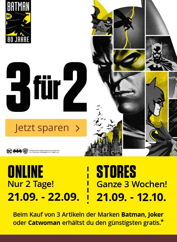 Elbenwald - Batman, Joker, Catwoman Artikel 3 für 2 - günstigster Artikel gratis