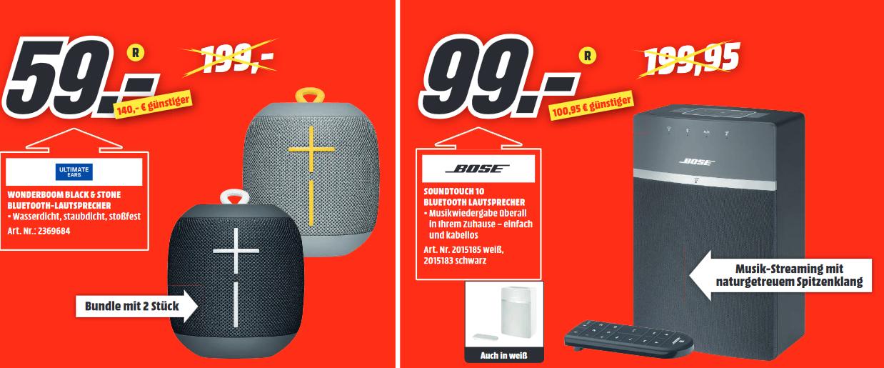 [lokal: MM Amberg] Bose Soundtouch 10 Series III | 2x UE Wonderboom =59€ | Samsung Galaxy S9 64GB lila =399€ | Galaxy Tab S3 LTE =288€