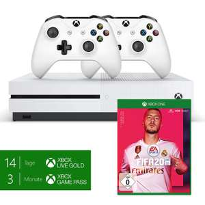 Xbox One S 1TB + 2 Controller + Fifa 20 + Red Dead Redemtion 2 + GTA 5 [Lokal: Saturn Frankfurt-Zeil)