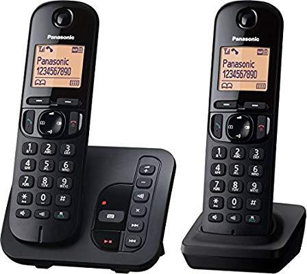 Panasonic KX-TGC222GB Schnurlostelefon mit AB KX-TGC222 schwarz (prime)