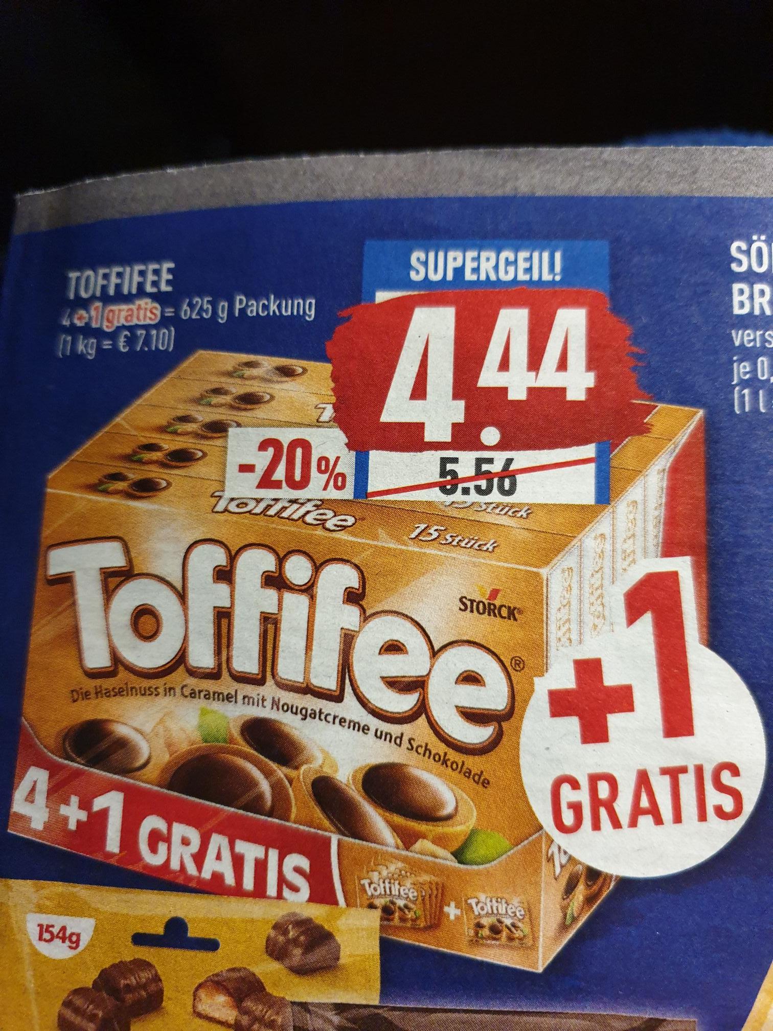 Toffifee 625g Packung 5x125g für 4,44€ ( Marktkauf+Edeka)