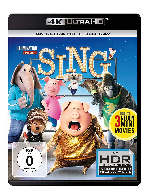Sing 4K UHD für 7,90€ + Versand
