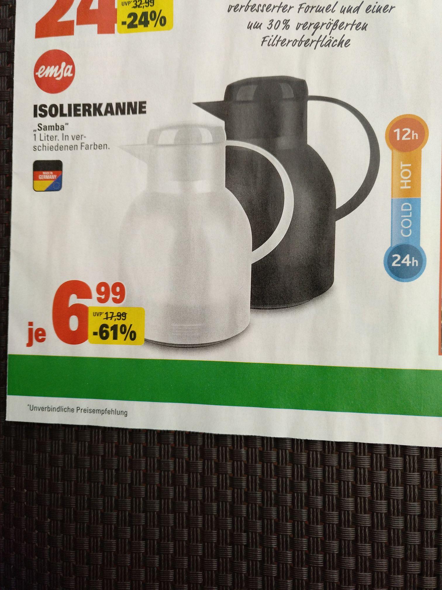 [Lokal?] Marktkauf Johanneskirchen. Emsa Isolierkanne Samba verschiedene Farben.