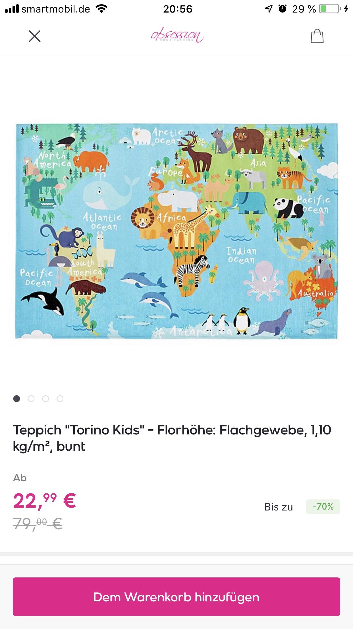"Kinderteppich ""Torino Kids"" 120x170"