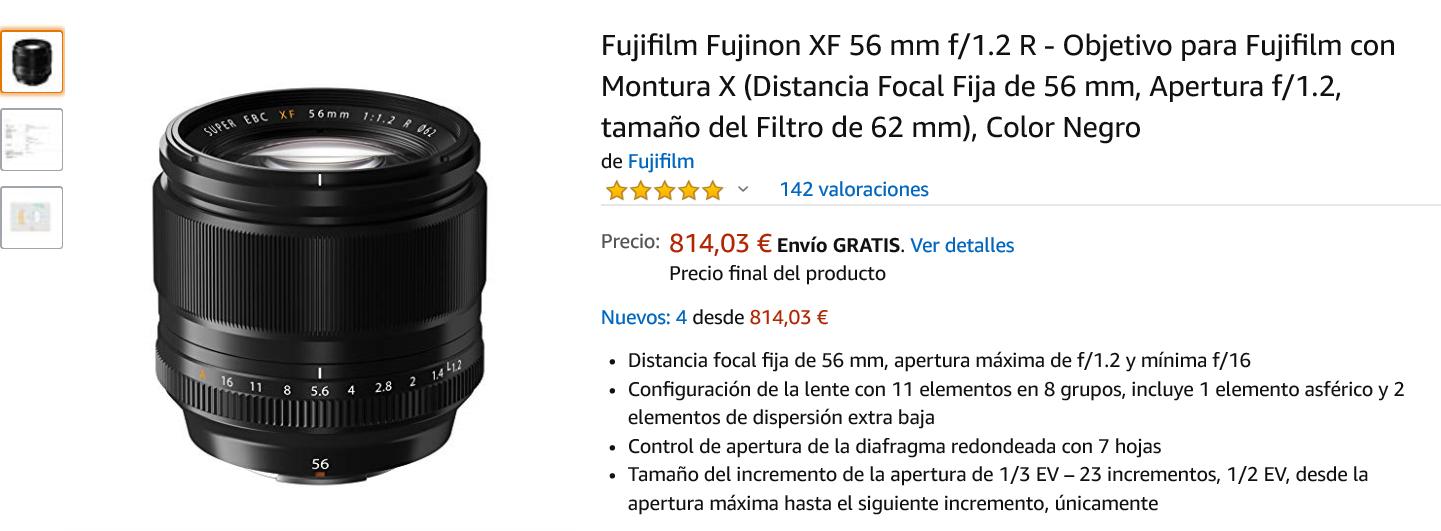 Amazon.es Fujinon XF 56mm f 1.2 R Fujifilm Fuji